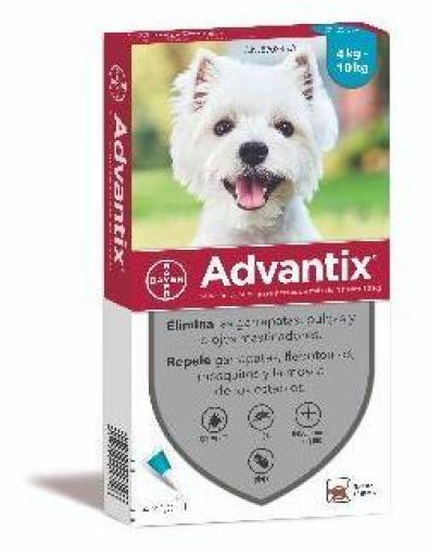 Pipettes antiparasitaires petit chien (4 à 10 kg)