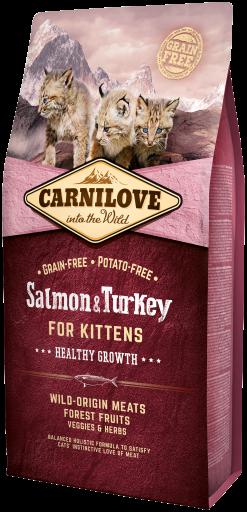 Croquettes pour Chaton au saumon et à la dinde