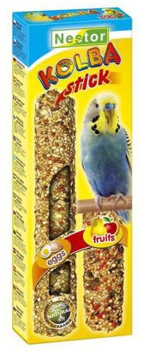 Bag. Perruches 2 Saveurs Oeuf Fruits 85G